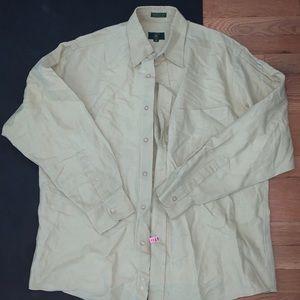 Men's button down shirt - linen material